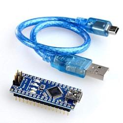 Arduino NANO  V3 With Usb Cable, Blue