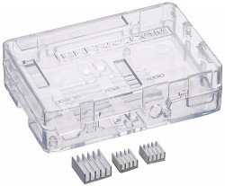 Raspberry Pi 3 Model B Case PC Protective Case With 2X Heatsinks For Raspberry Pi 3 Model B, Pi 2 Model B & Pi Model B+ (Clear)